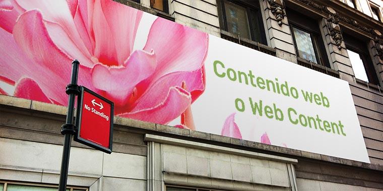 contenido web o web content