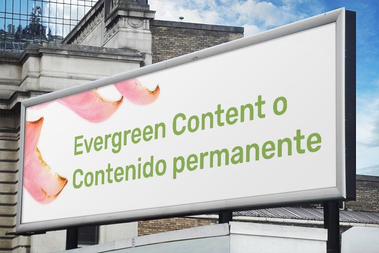 evergreen content o contenido permanente